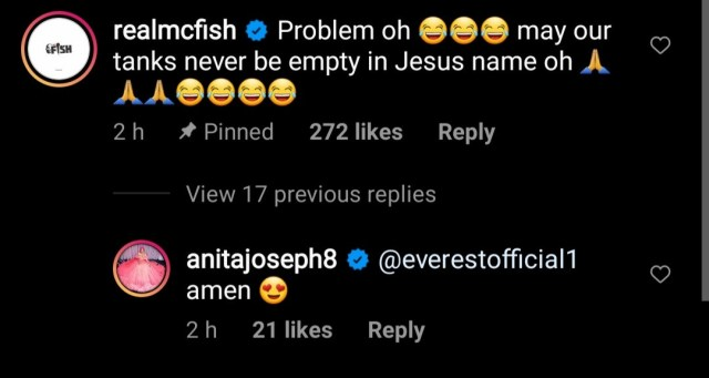 """Actress, Anita Joseph reveals she left a movie set and flew from Enugu to Lagos and back for a """"d*** appointment """" with her husband"""