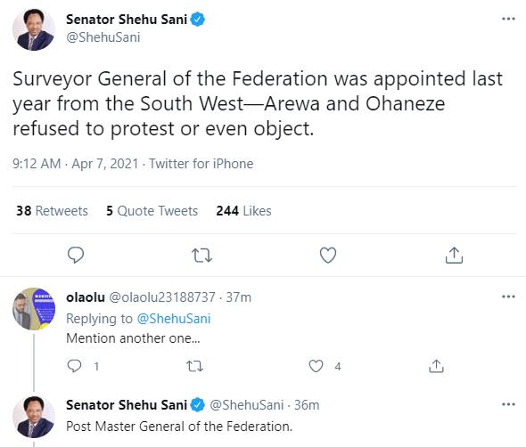 Nigerians react after Senator Shehu Sani takes a