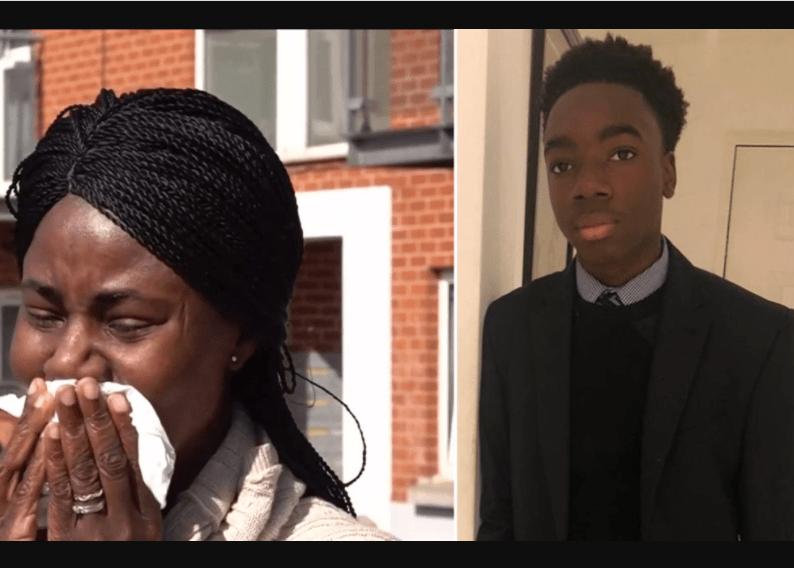 Richard Okorogheye and his mum