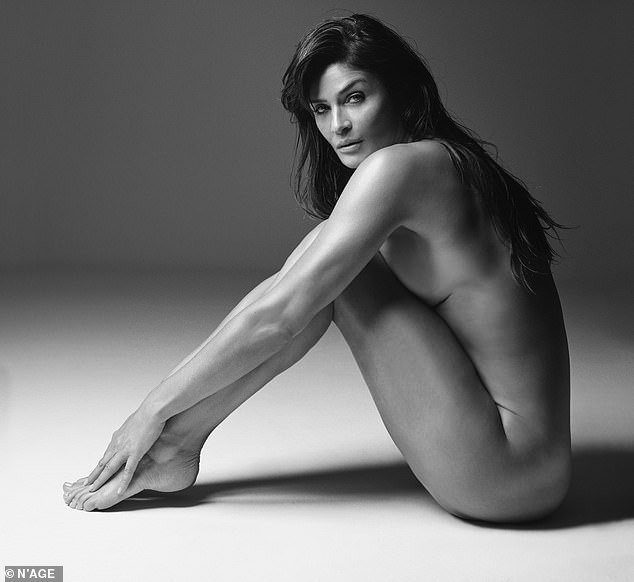 Helena Christensen, 52, shows off her age-defying physique as she strips