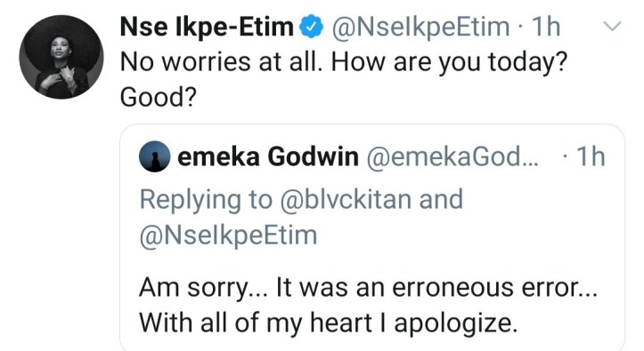 "Nse Ikpe-Etim responds to follower who asked her ""why did you sell out your womb?"""