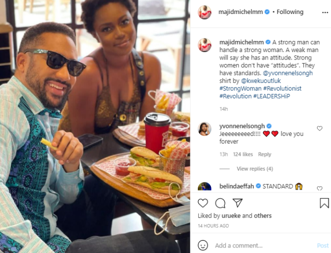 Strong women don?t have attitude, they have standards - Actor, Majid Michel