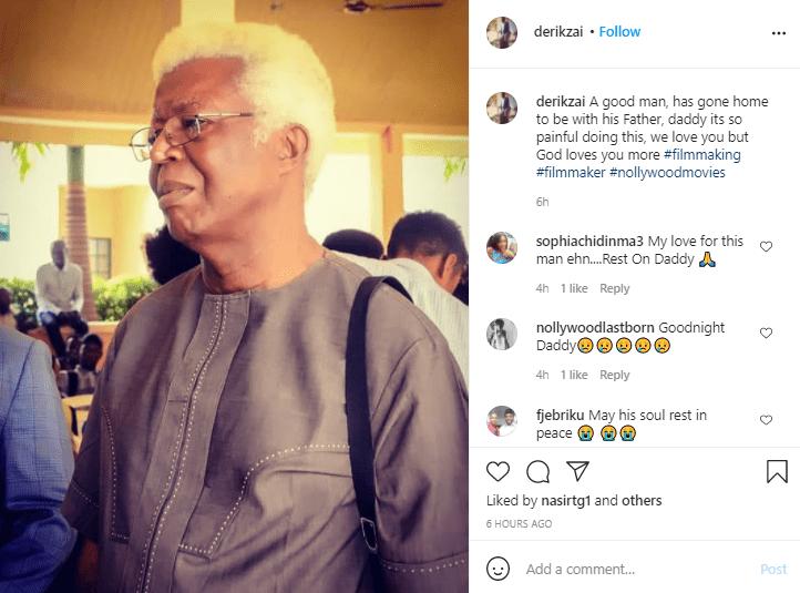L'acteur vétéran Bruno Iwuoha décède à 68 ans