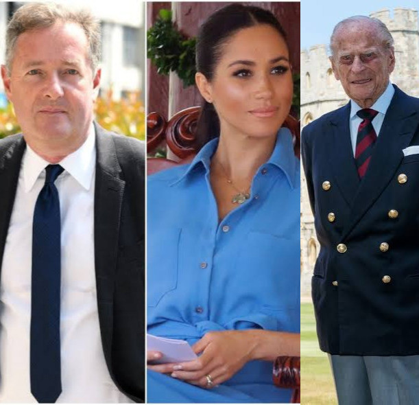 Piers Morgan throws shade at Meghan Markle in his tribute to Prince Philip