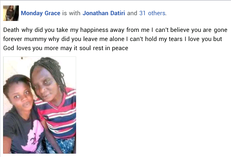 """""""God we need your intervention"""" - Young woman mourns her mother and sister killed by gunmen at mining site in Plateau"""