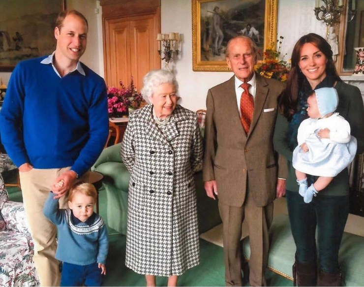 Royal family release unseen pictures of Prince Philip and Queen Elizabeth surrounded by their great-grandchildren