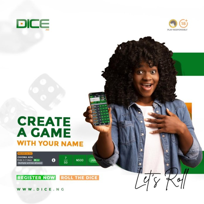 Create a game and win big on Dice