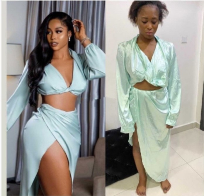What I ordered VS what I got: Woman left disappointed after asking tailor to recreate a two-piece worn by Lilian Afegbai