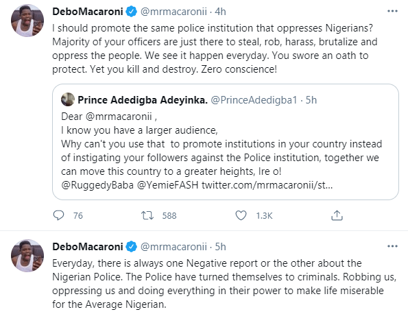 I swore never to stop using my platform to call out the evil that the Police do after policemen took turns to beat me at Adeniji police station - Comedian, Mr Macaroni
