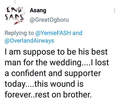 """""""This wound is forever"""" - Friends mourn groom who died in Ondo accident a day after his court wedding and one week to church ceremony"""