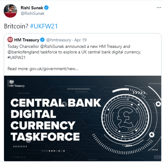 """UK considers making new digital currency that could be known as """"Britcoin"""""""