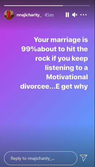 Your marriage will hit the rocks if you keep listening to motivational divorcees - Actress Nnaji Charity
