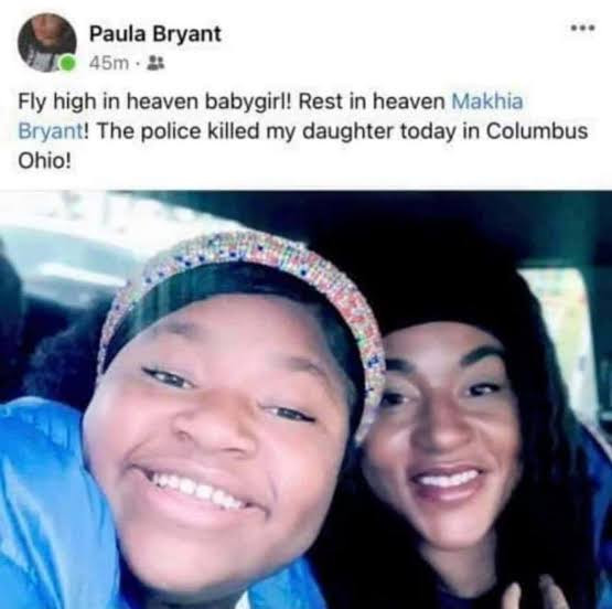 16-year-old girl shot dead by Columbus police after she called them for help (video)