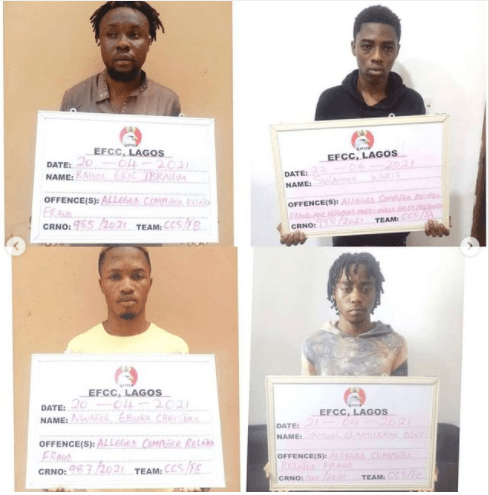 18 suspected internet fraudsters arrested in Lagos (photos)