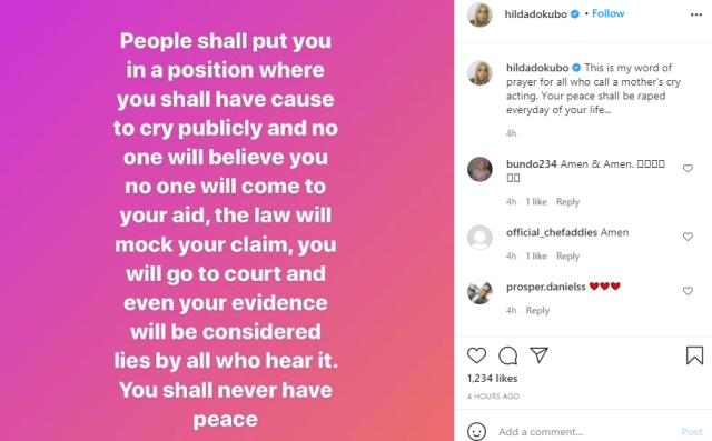 You shall have cause to cry publicly and no one will believe you - Hilda Dokubo curses those trying to puncture rape allegation against actor Baba Ijesha