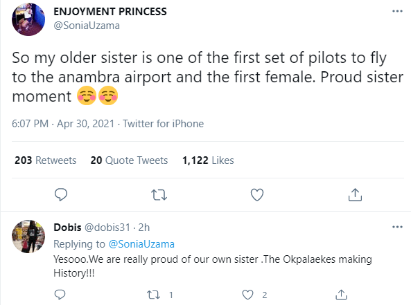 Nigerians sing praise of woman who is one of the first pilots to land a plane at the new Anambra Airport