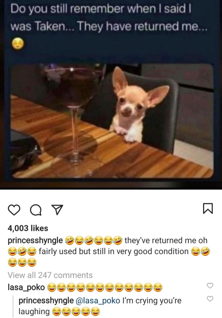 """""""Fairly used but still in good condition """" Princess Shyngle jokes about her divorce"""