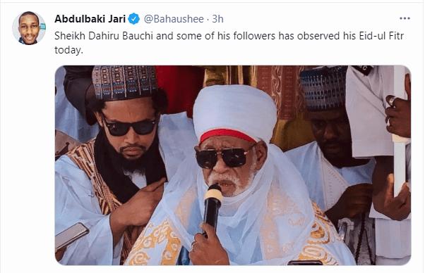 Sheik Dahiru Bauchi defies Sultan of Sokoto, holds Eid on Wednesday