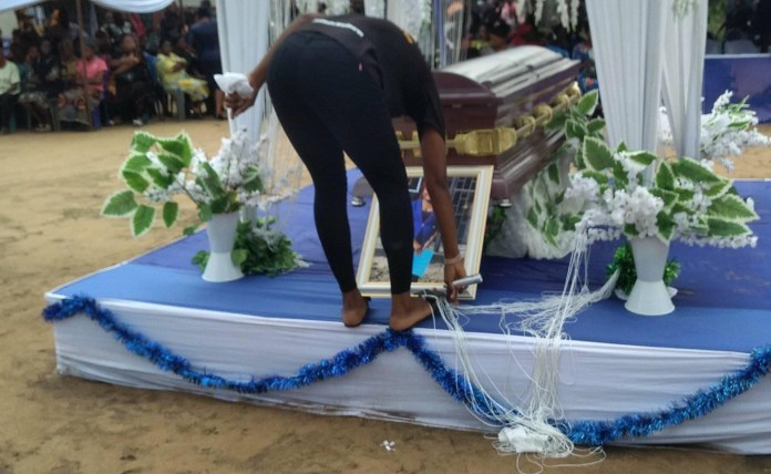 Photos from the funeral of Iniubong Umoren, the job seeker who was raped and killed in Akwa Ibom