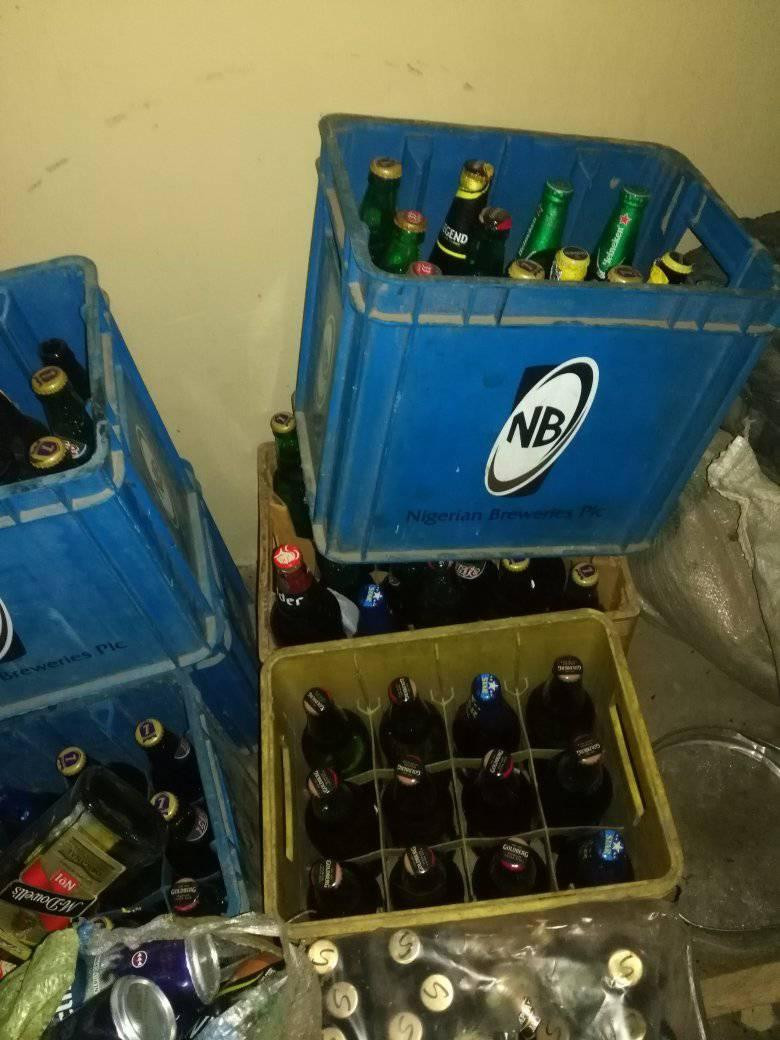 Jigawa Hisbah confiscates 308 bottles of alcoholic drinks in raid at hotel (photos)