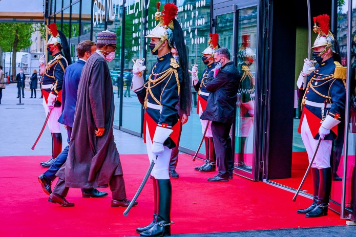 President Buhari attends the African Finance Summit in France