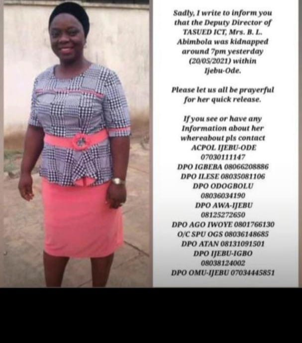 Gunmen abduct female lecturer, student, two others in Ogun