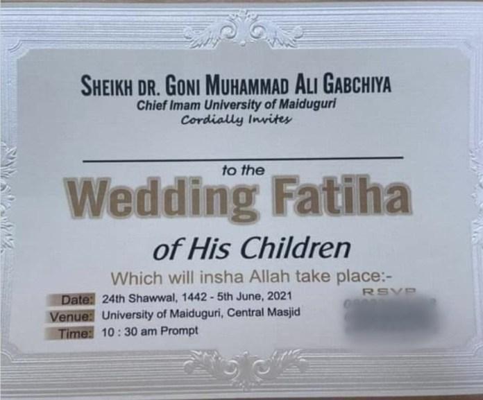 10 children of prominent Islamic scholar, Sheikh Goni Gabchiya, set to wed same day