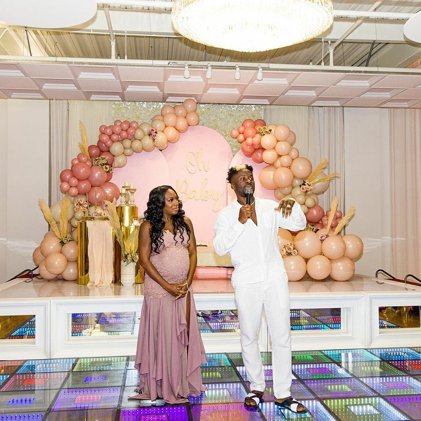 Photos from the baby shower of Davido