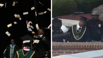 Rapper, Metro Marrs arrested and detained after spraying $10,000 cash at his own high school graduation ceremony
