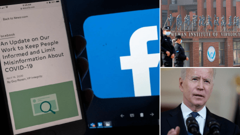 Facebook reverses policy on ban of posts saying Covid-19 was man-made
