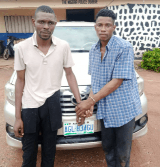 Two arrested in Ogun while escaping with car they stole in Lagos