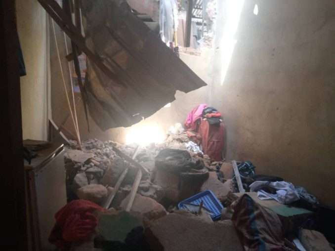 Family of six escapes death as two-storey building collapses in Anambra
