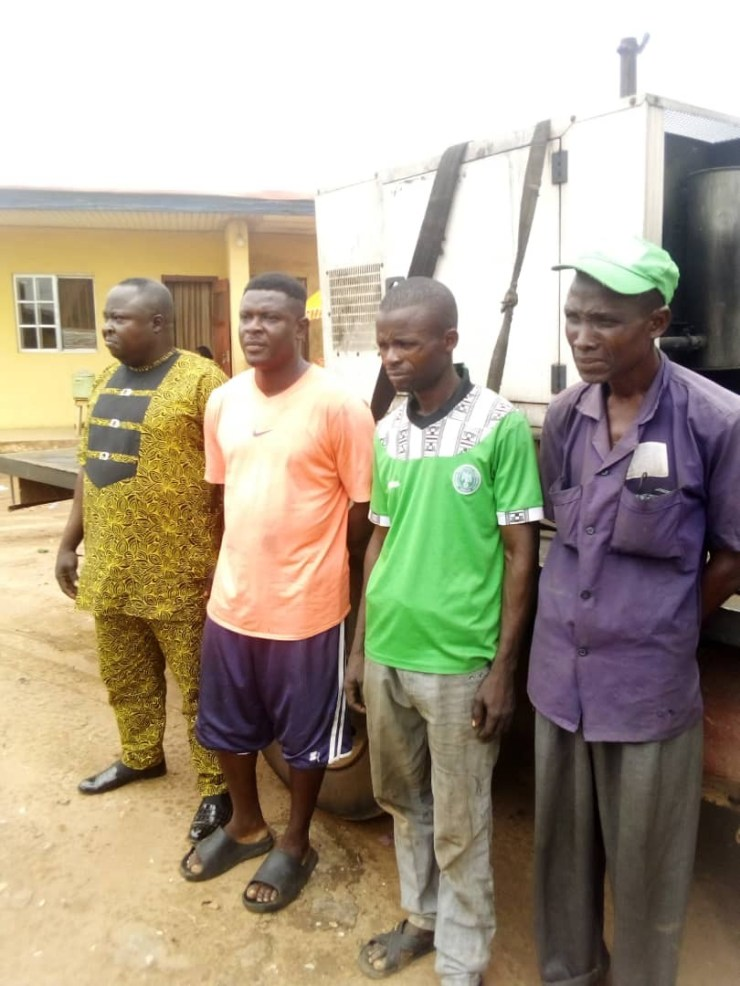 Four arrested for allegedly stealing telecommunication