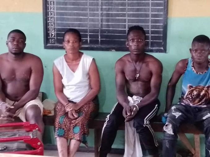 Security operatives arrest female spiritualist, three suspected criminals terrorizing Oyo community