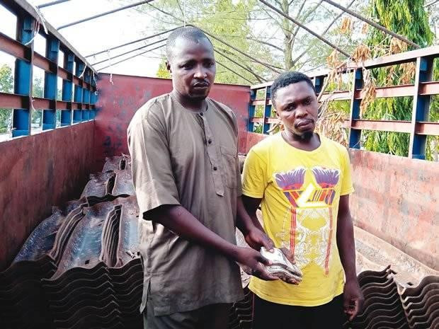 Two suspects arrested for vandalizing rail tracks and attempting to bribe police officers in Nasarawa