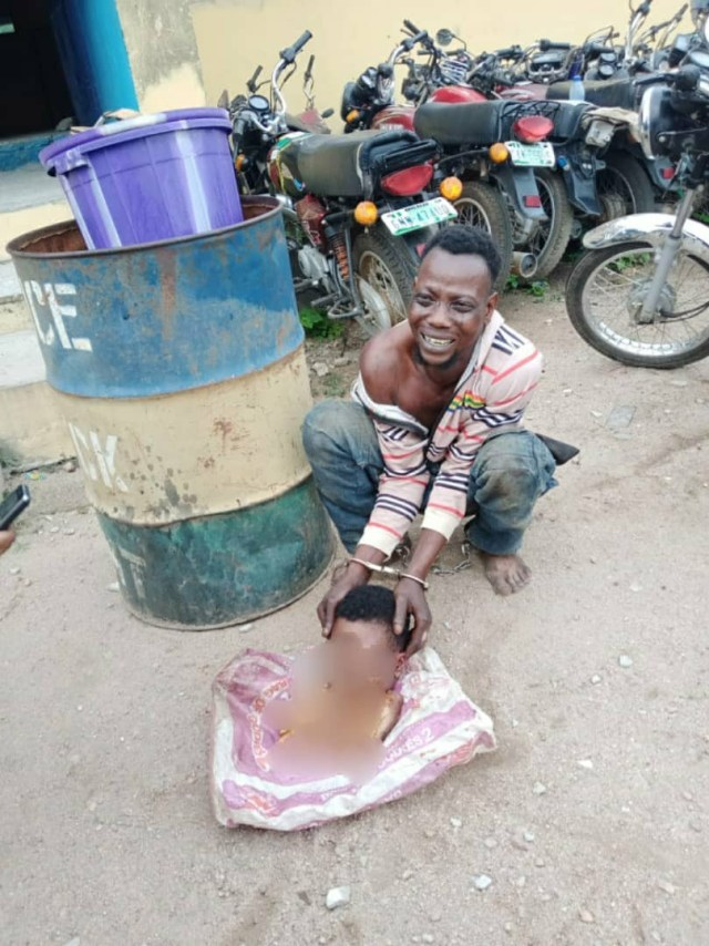 Man arrested with dismembered body of young lady in Osun (graphic)