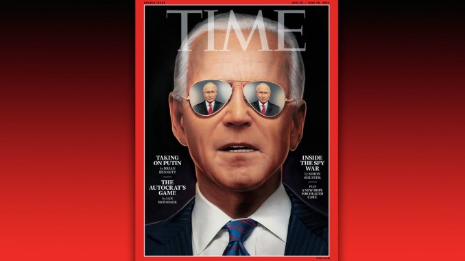 TIME magazine blasted for exaggerated attempt to make Joe Biden 'look cool' and tough on its cover ahead of Putin meeting