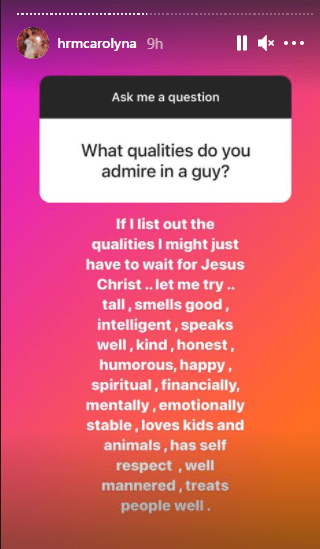 Caroline Danjuma lists qualities she admires in a man