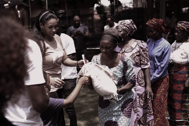 Shamies Foundation donates food items and cash gifts to 150 widows in Abuja to mark Democracy Day