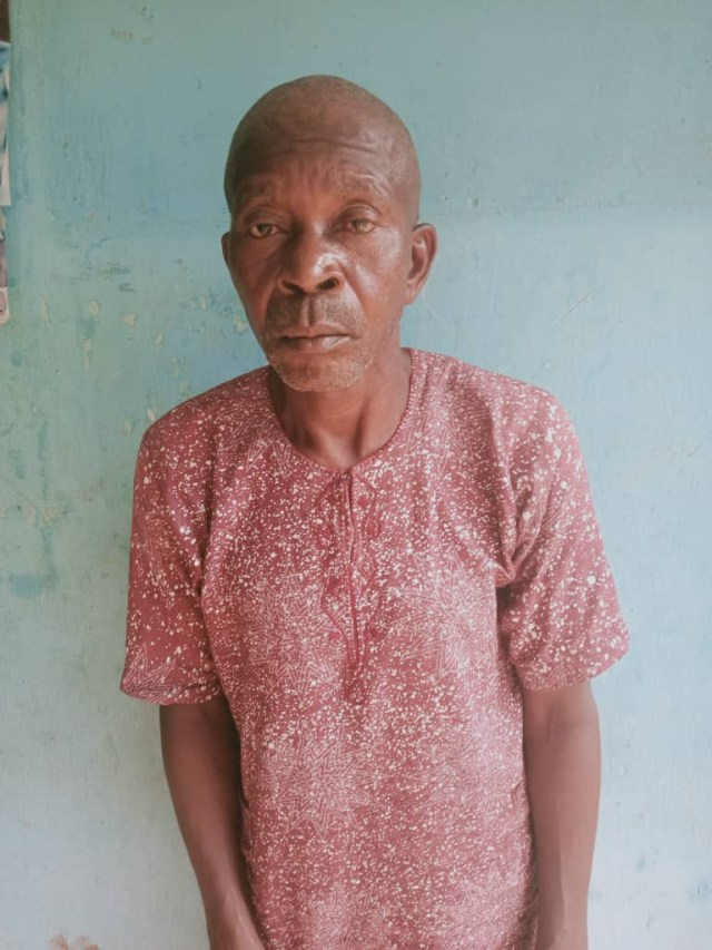 Man, 65, arrested for allegedly raping his 85-year-old stepmother in Ekiti (photo)