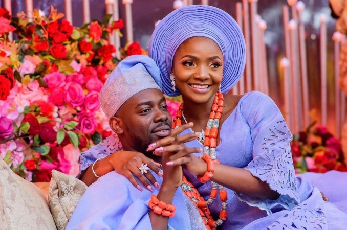 In this life marry well - Adekunle Gold gushes about his wife Simi after she got him a vintage gameboy as father's day gift