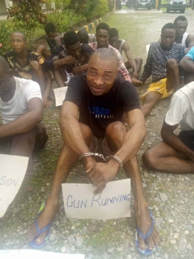 Police Inspector arrested for allegedly gunrunning and renting riffles to notorious criminals in Cross River State