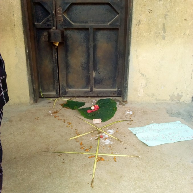 Akwa Ibom Govt shuts down secondary school after cultists dropped fetish items and threat notes in front of Principal's office