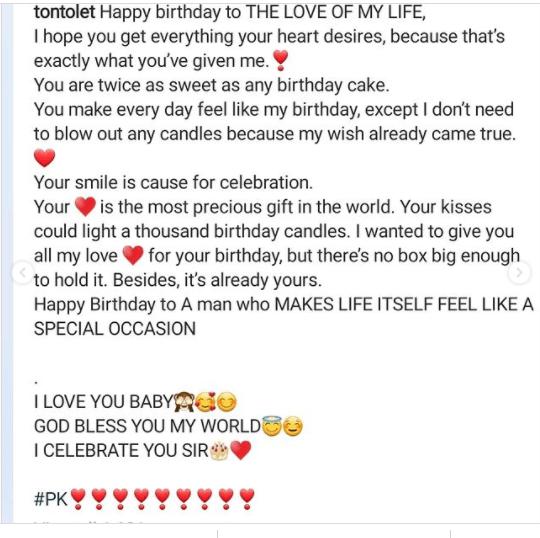 Tonto Dikeh celebrates her new man on his birthday, calls him
