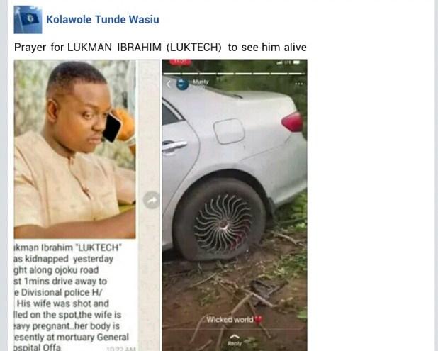 Gunmen kill pregnant woman, abduct her husband in Kwara