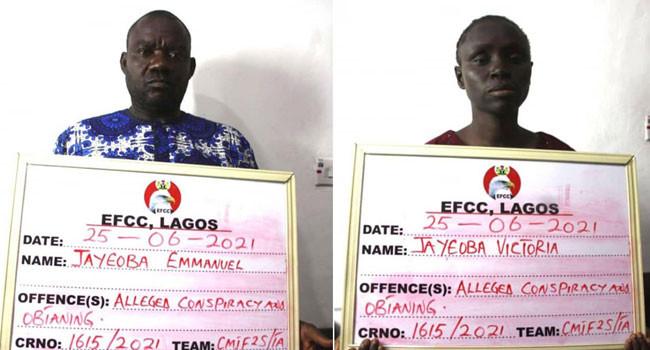 EFCC arrests couple over alleged N935m Ponzi scheme in Lagos 1