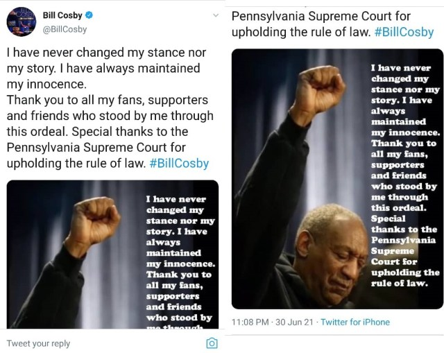 ?I have always maintained my innocence? - Bill Cosby issues first statement after prison release