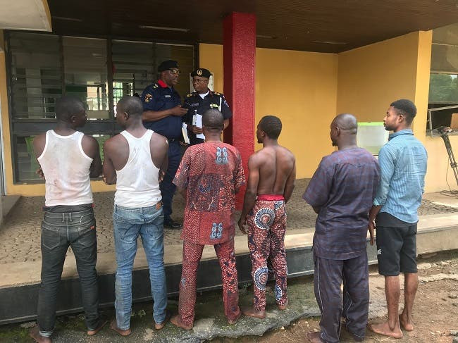 Five persons arrested over alleged assault and attempt to lynch NSCDC officials in Oyo
