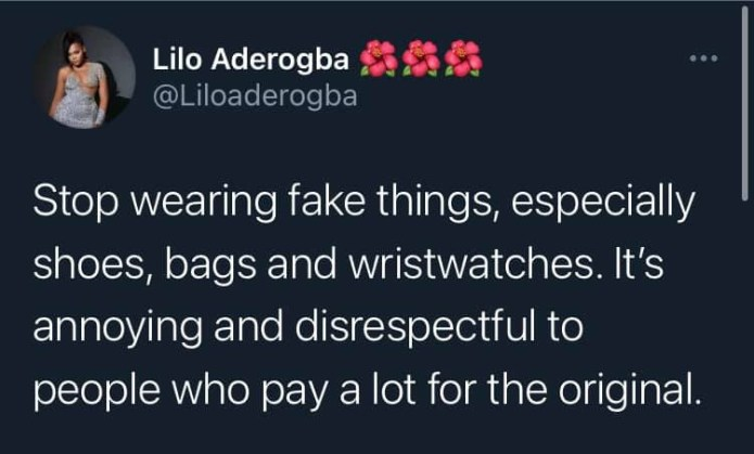 Wearing fake things is disrespectful to those who pay a lot for original - BBNaija
