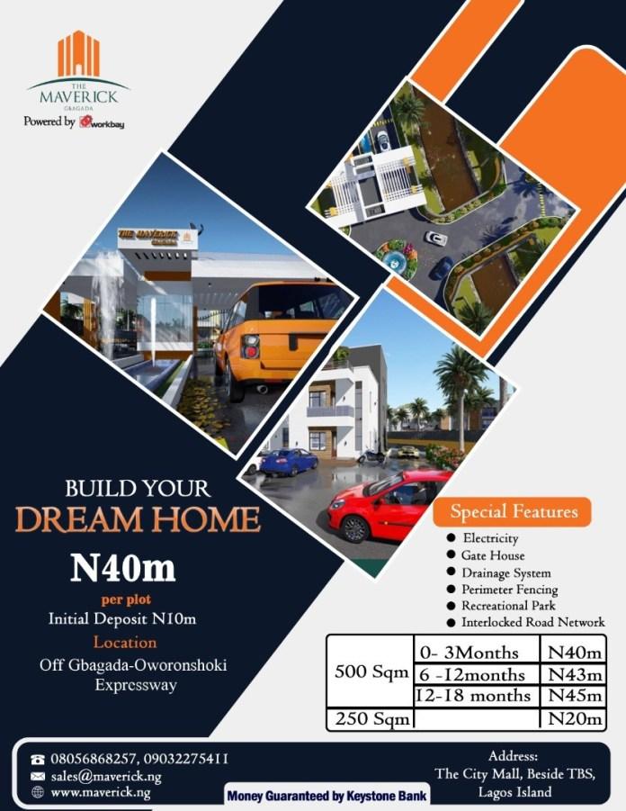 The Maverick Gbagada, 60 Serviced Plots of Land Now Selling!!!!